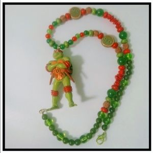 Teenage Mutant Ninja Turtles necklace Jade Emerald